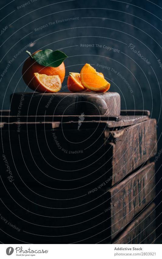Frisch geschnittene Orangen Frühstück lecker trinken frisch Frucht Gesundheit Saft
