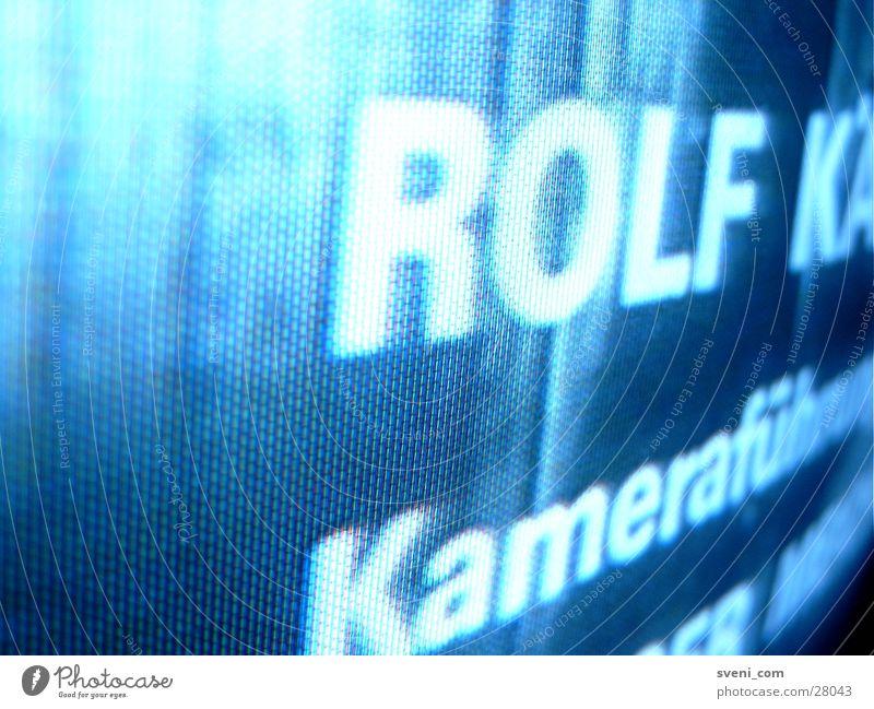 Abspann Nahaufnahme RGB Bildpunkt Fernsehen Rolf Kameraführung
