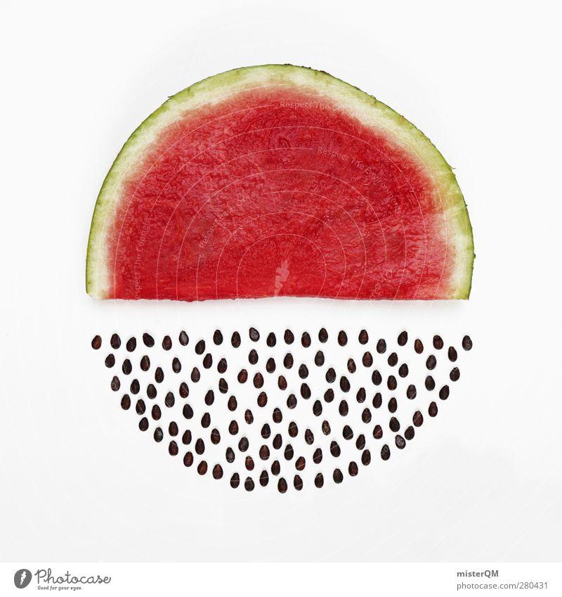 Kernlos. Kunst Kunstwerk ästhetisch Melonen Melonenschiffchen Wassermelone rot Japan Kerne Kernobst Frucht Gesundheit Vitamin Hülle Sommer Sommerferien