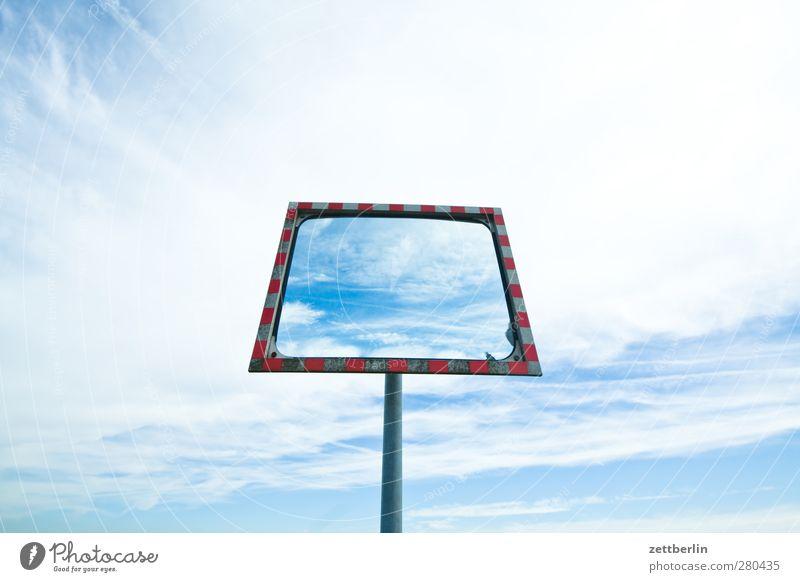 Himmel im Spiegel im Himmel Umwelt nur Himmel Wolken Sommer Klima Klimawandel Wetter Schönes Wetter Flughafen gut schön Freude Glück Fröhlichkeit Zufriedenheit