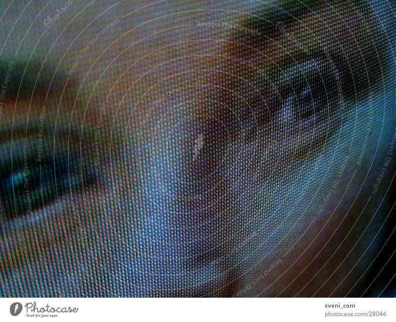 Ich seh Dich! Frau RGB Bildpunkt Fernsehen Gesicht Auge Nase