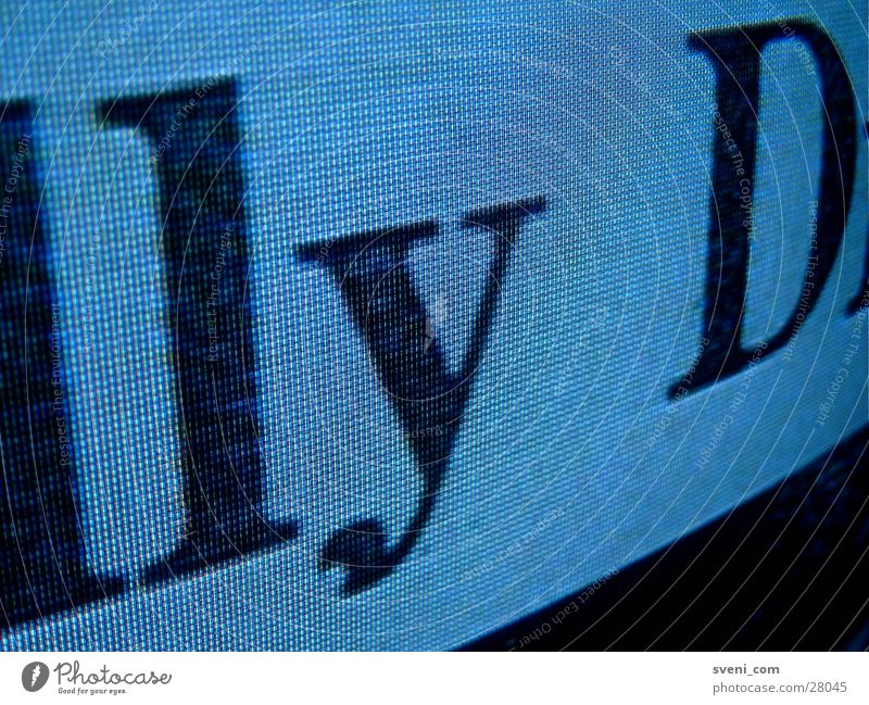 Untertitel Schriftzeichen Fernsehen Buchstaben Typographie RGB