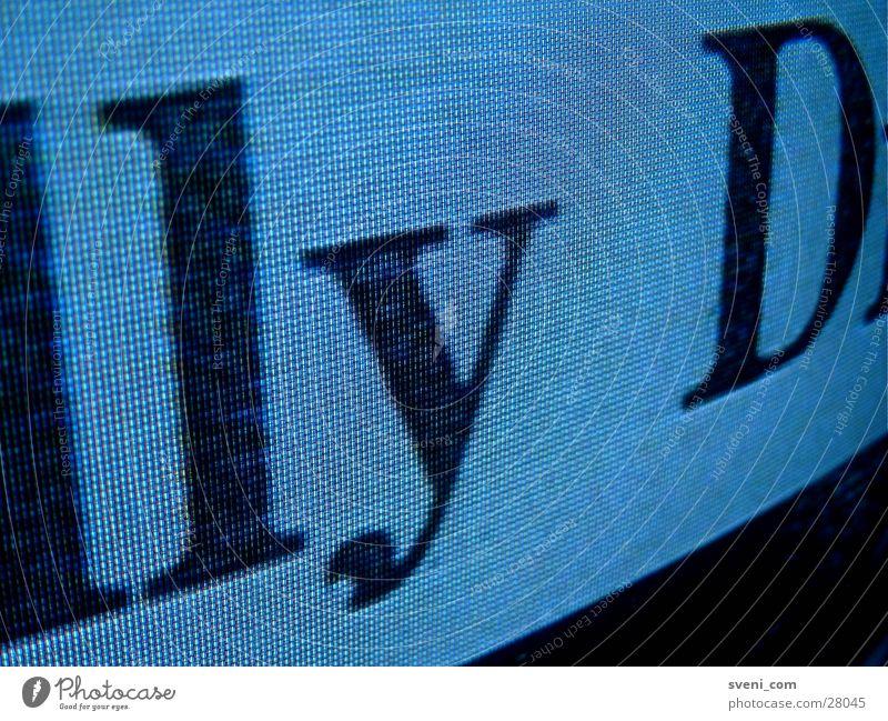 Untertitel Typographie Buchstaben RGB Nahaufnahme Fernsehen Schriftzeichen Typrographie
