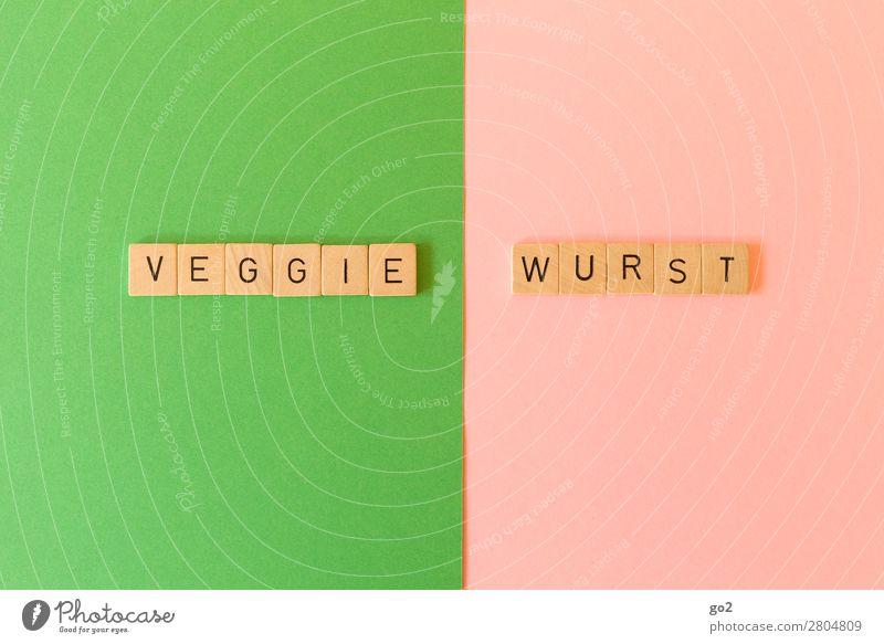 Veggie / Wurst Gesunde Ernährung Gesundheit Lebensmittel Spielen Schriftzeichen Gemüse Bioprodukte Vegetarische Ernährung Diät Konflikt & Streit