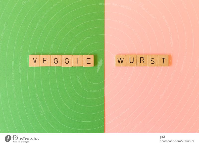 Veggie / Wurst Lebensmittel Fleisch Wurstwaren Gemüse Ernährung Bioprodukte Vegetarische Ernährung Diät Fasten Gesunde Ernährung Spielen Schriftzeichen
