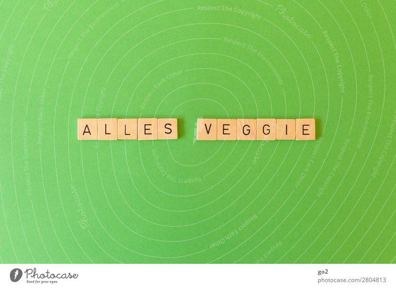 Veggie Gesunde Ernährung grün Gesundheit Lebensmittel Spielen Freizeit & Hobby Schriftzeichen genießen Zukunft Klima lecker Bioprodukte Vegetarische Ernährung