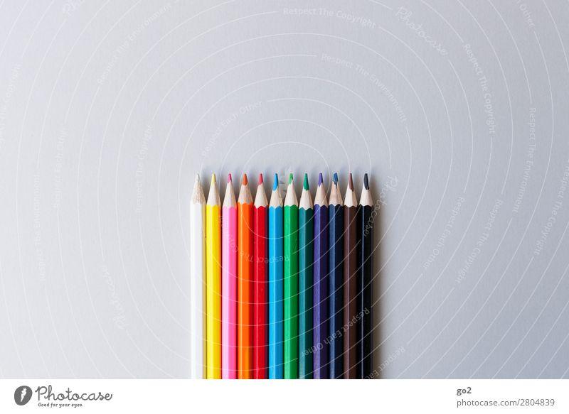Bunte Stifte Freizeit & Hobby Kindergarten Schule Arbeit & Erwerbstätigkeit Beruf Büroarbeit Werbebranche Schreibwaren Papier Schreibstift