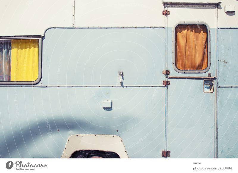 1-Raum-Wohnung Freizeit & Hobby Ferien & Urlaub & Reisen Camping Häusliches Leben Verkehrsmittel Wohnmobil Wohnwagen Anhänger Linie alt authentisch eckig