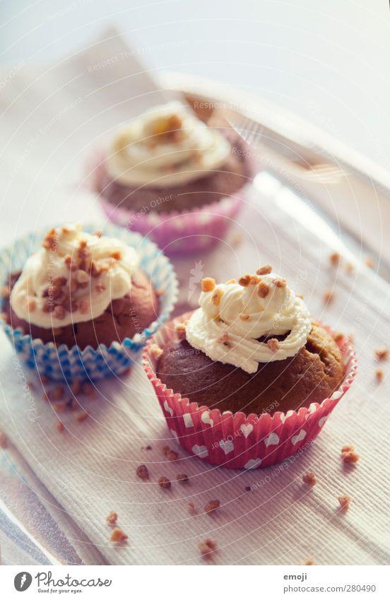 cupcakes Teigwaren Backwaren Süßwaren Ernährung Picknick Slowfood Fingerfood lecker süß Dessert Cupcake Farbfoto Innenaufnahme Menschenleer Tag
