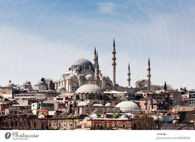 Moschee Religion & Glaube Himmel Schönes Wetter Innenstadt Stadtzentrum Ferien & Urlaub & Reisen Minarett
