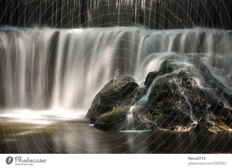 Abkühlung Natur Landschaft Wasser Frühling Sommer Schönes Wetter Fluss Wasserfall ästhetisch Flüssigkeit frisch nass weich Stein Provence Südfrankreich Farbfoto