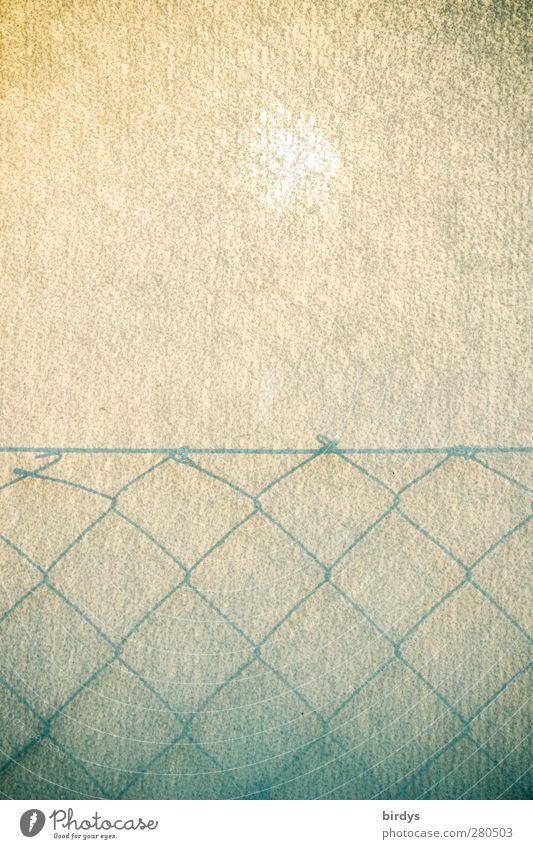 Schattenzaun weiß Sonne grau hell Kunst außergewöhnlich leuchten ästhetisch Papier Symmetrie Maschendrahtzaun