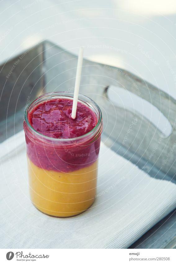 splitted smoothie Ernährung Picknick Bioprodukte Vegetarische Ernährung Diät Fasten Getränk Erfrischungsgetränk Saft Glas Trinkhalm exotisch lecker fruchtig