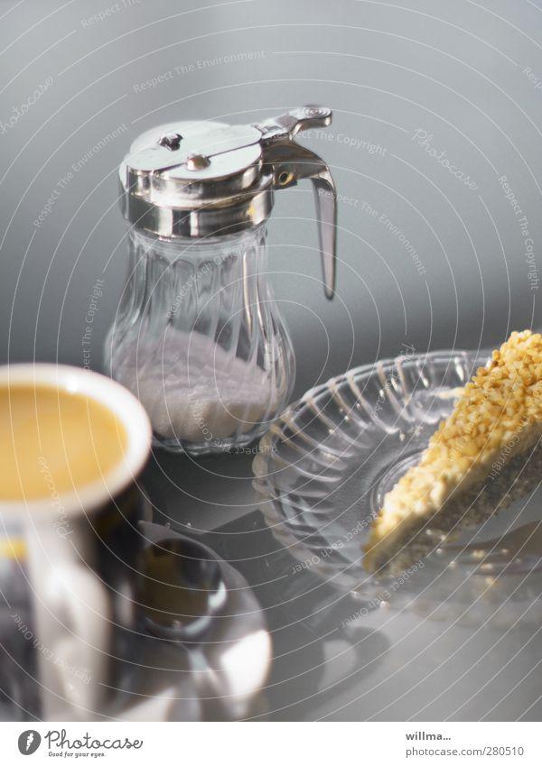 köstliche verkuchung Lebensmittel Kuchen Süßwaren Zucker Milchkaffee Torte Tortenstück Ernährung Kaffeetrinken Teller Tasse Glasteller Kaffeetasse Kaffeelöffel