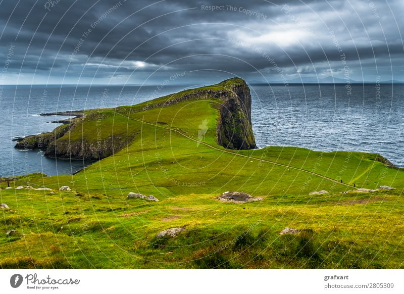 Klippen am Neist Point auf der Isle of Skye in Schottland Atlantik Aussicht dunvegan Erholung Geologie Großbritannien Halbinsel Hebriden Highlands Horizont