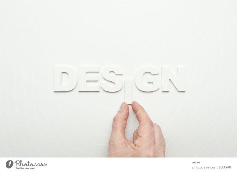 iDesgn Stil Design Werbebranche Hand Finger Schriftzeichen ästhetisch einfach hell Sauberkeit weiß Idee Inspiration Kreativität Buchstaben Wort Klarheit