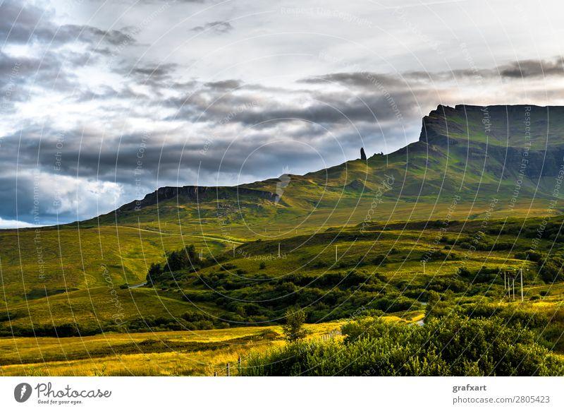 Felsformation Old Man Storr auf der Isle of Skye in Schottland Berge u. Gebirge Felsen Formation Geologie Stein Großbritannien Hebriden Highlands