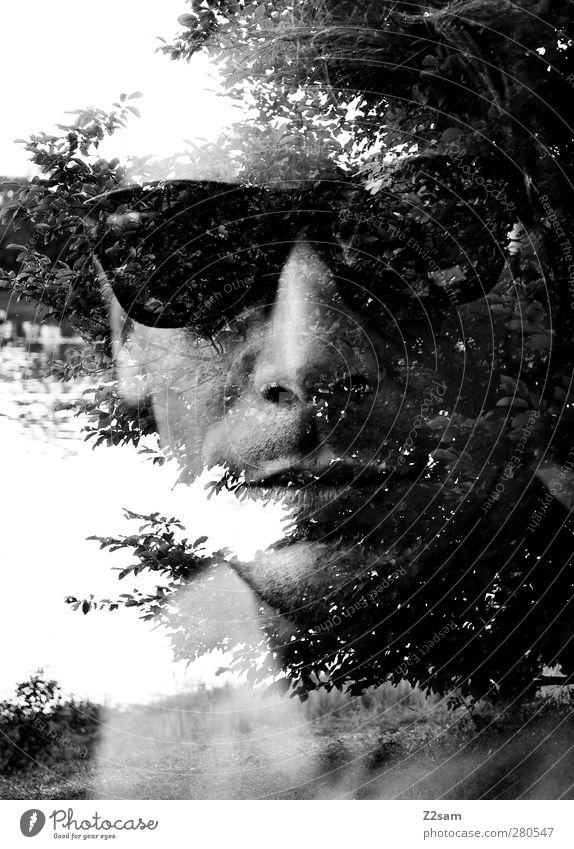naturverbunden II Mensch Natur Jugendliche Stadt Baum ruhig Landschaft Erwachsene Erholung Umwelt dunkel Junger Mann See Stil träumen 18-30 Jahre