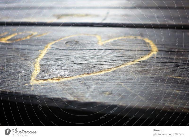 Herzig Liebe Holz Herz Romantik Verliebtheit Holztisch