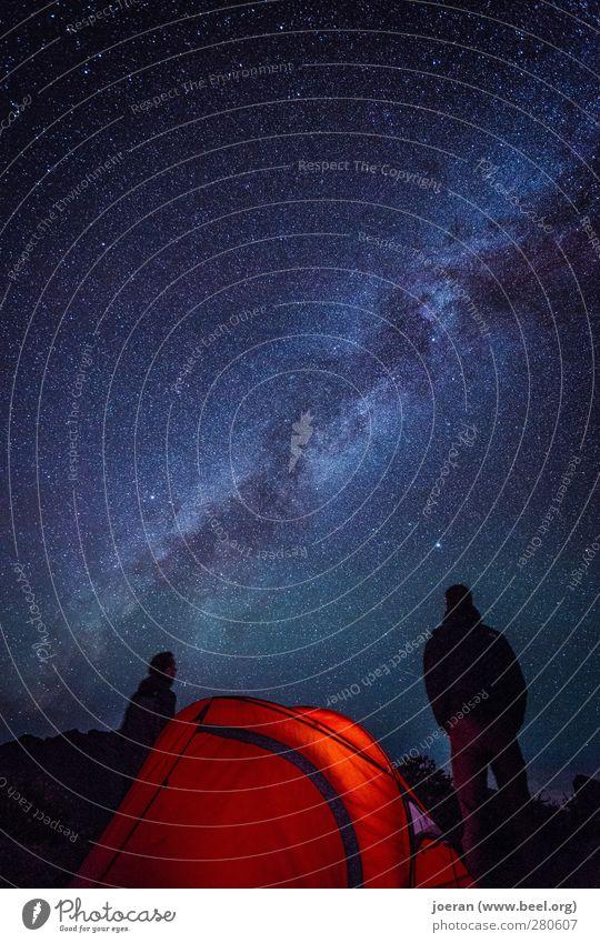 Unendliche Weiten Freude Glück Freizeit & Hobby wandern Camping Campingplatz Ferien & Urlaub & Reisen Ausflug Abenteuer Ferne Freiheit Expedition Nachthimmel