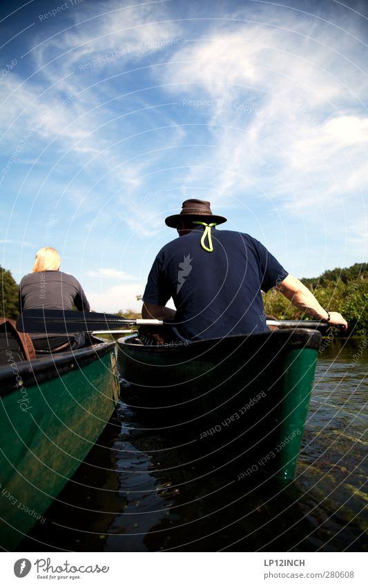 Stau auf der Ilmenau Freizeit & Hobby Kanusport Kanutour Kanuten Ferien & Urlaub & Reisen Tourismus Ausflug Abenteuer Sommer Sommerurlaub Sport Wassersport