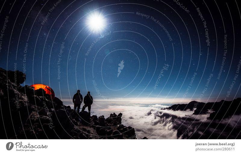 Unendliche Weiten (2) Himmel Natur Landschaft Ferne Umwelt Erde Freundschaft träumen wandern Stern Abenteuer entdecken Camping Mond Zelt Nachthimmel