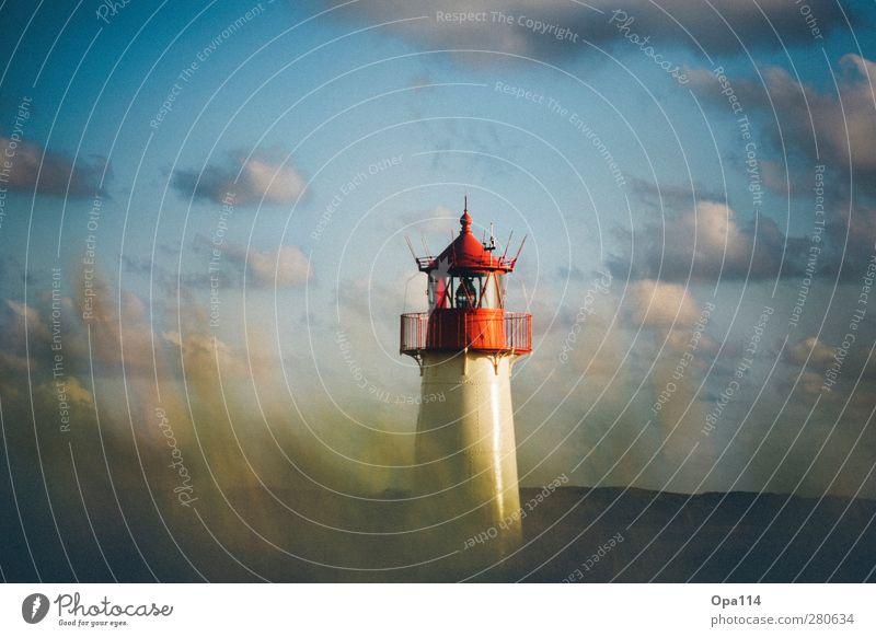Leuchtturm Himmel Natur blau grün weiß Sommer Pflanze rot Strand Tier Wolken Landschaft Umwelt Gras Küste Wetter