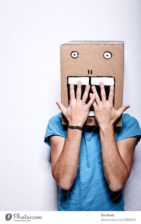 KARTOON · JON II Halloween maskulin Mann Erwachsene 1 Mensch Kunst Theaterschauspiel T-Shirt Paket Karton Fressen lachen außergewöhnlich gruselig trashig