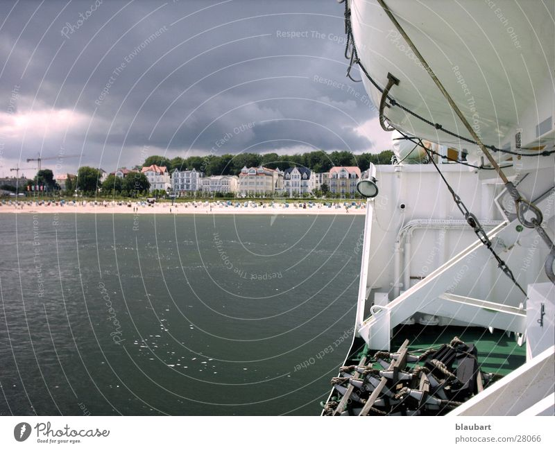 Ich kam, Ich sah und ES regnete grau See kalt Wasserfahrzeug Europa Ahleck Ostsee Wetter Wind Regen