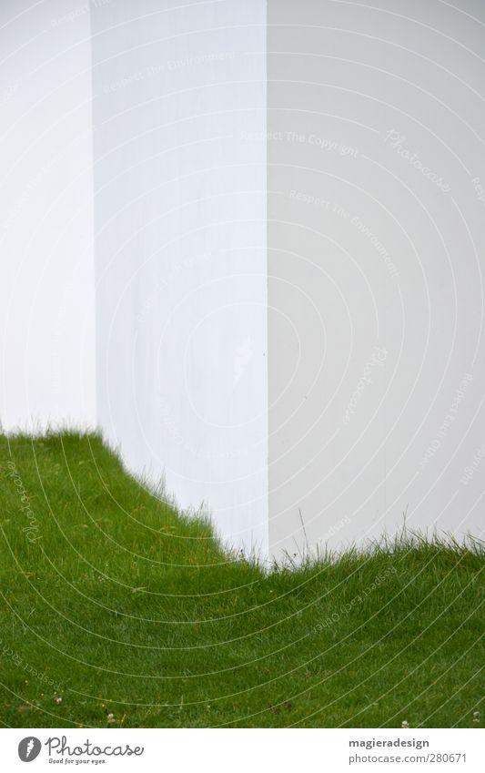 Grasecke Stadt Haus Wand Architektur Mauer Gebäude Garten Stein Stil Fassade Zufriedenheit Ordnung elegant Beton Beginn ästhetisch
