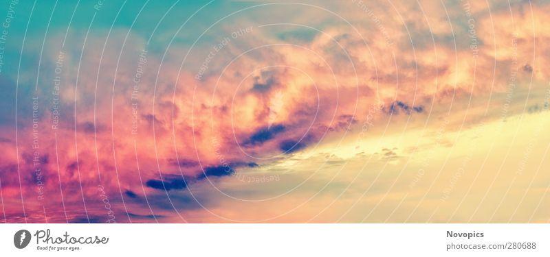Desire Himmel Natur blau grün schön Sonne rot Wolken Landschaft gelb dunkel Wärme hell träumen Stimmung rosa