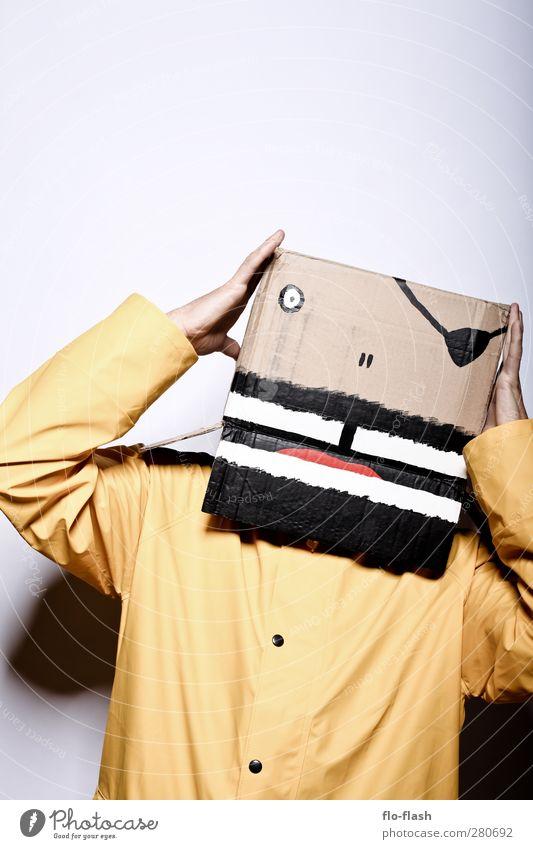 KARTOON · KNUD III Mensch Mann Erwachsene gelb Freiheit Kunst maskulin dreckig authentisch Abenteuer Neugier Unendlichkeit Theaterschauspiel Karton trashig
