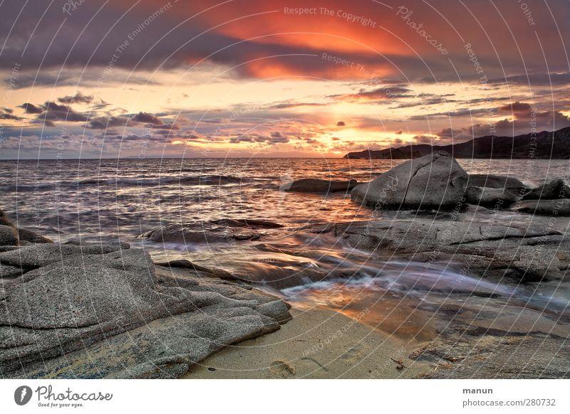 Punto Ferien & Urlaub & Reisen Sommerurlaub Insel Natur Landschaft Urelemente Sand Wasser Himmel Wolken Sonne Hügel Felsen Wellen Küste Strand Bucht Meer