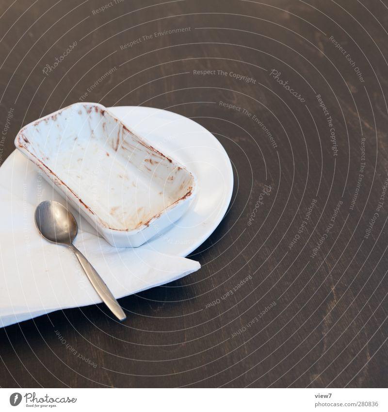 leer. Erholung Traurigkeit Essen Lebensmittel Ordnung authentisch Ernährung Häusliches Leben Ende Gastronomie Appetit & Hunger Frühstück Geschirr