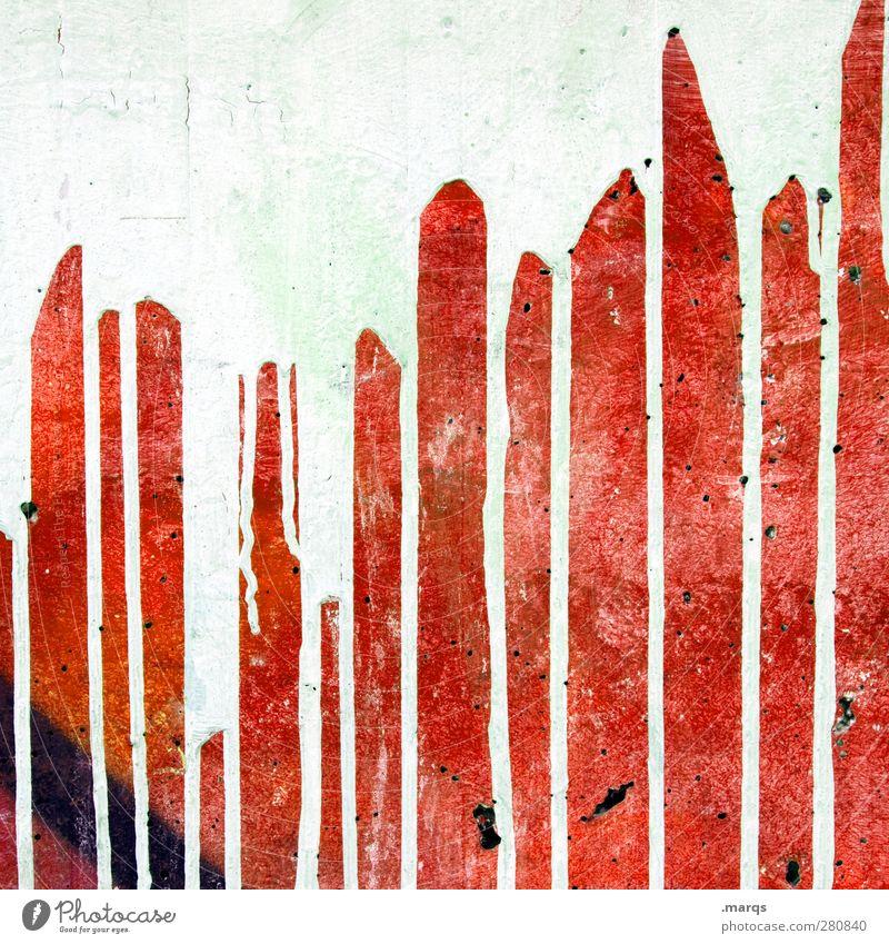 Majo auf Ketchup Stil Design Anstreicher Kunst Mauer Wand Graffiti außergewöhnlich Coolness trashig rot weiß Farbe Hintergrundbild Farbstoff Flüssigkeit