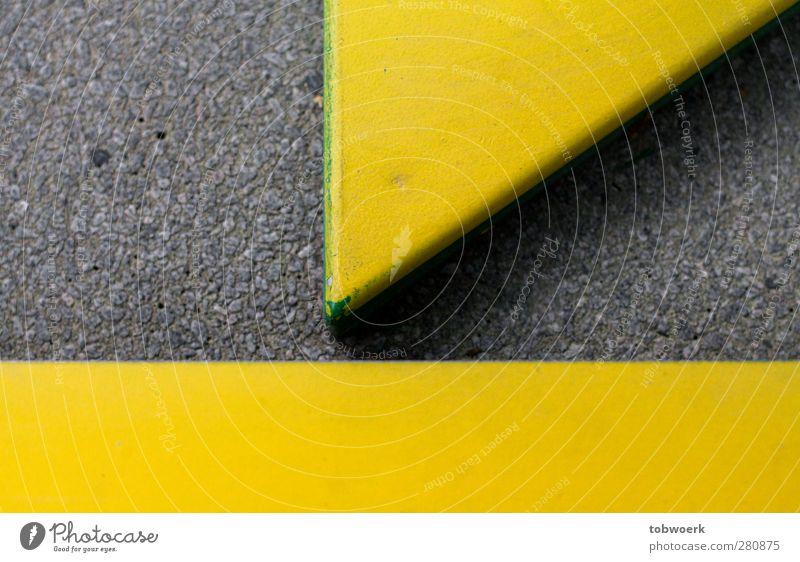 Profi Pit-Pat Wege & Pfade Stein Zeichen eckig gelb grün Dreieck Rechteck Formalität Strukturen & Formen passend Gasse schmal deutlich Ordnung Formation
