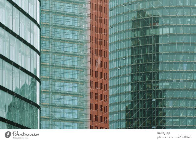potsdamer platz Stadt rot Fenster Architektur Gebäude Fassade Büro Hochhaus Glas Bauwerk Hauptstadt Bankgebäude Backstein Großstadt Vielfältig Glasfassade
