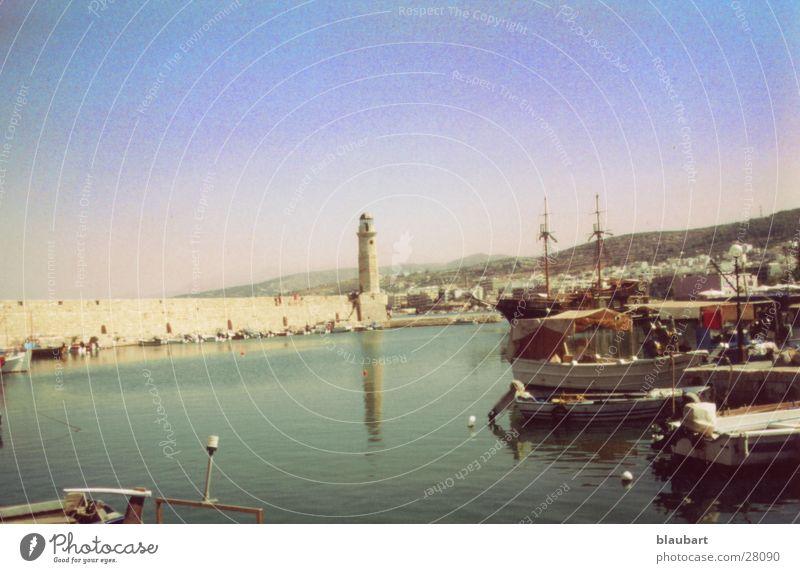 Leuchtturm Kreta Griechenland Europa Hafen