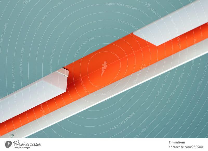 Licht. weiß Lampe orange ästhetisch Dach Sauberkeit einfach Furche