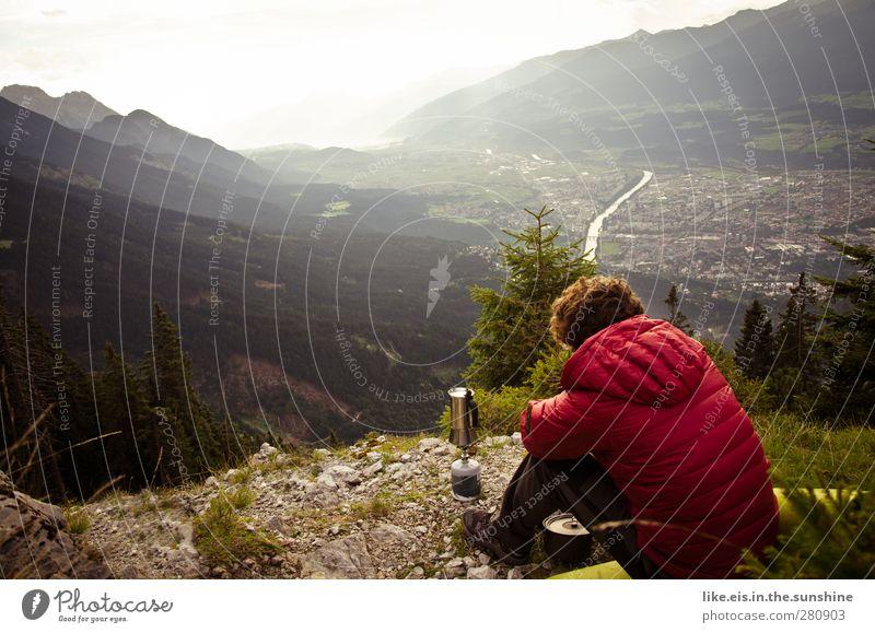 mag noch jmd nen kaffee!? Natur Landschaft Erholung Ferne Umwelt Berge u. Gebirge Leben Herbst Freiheit Zufriedenheit maskulin wandern frei Ausflug Abenteuer