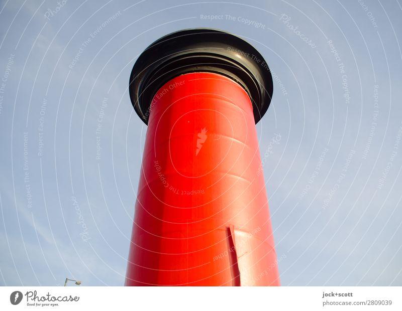 Kleine Werbepause Werbebranche Wolkenloser Himmel Schönes Wetter Berlin-Mitte Litfaßsäule Schilder & Markierungen Strukturen & Formen einfach groß Originalität