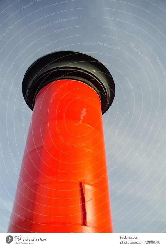 tabula rasa alt rot Architektur Wärme Umwelt Stil Stimmung Design retro frei ästhetisch Schilder & Markierungen authentisch Schönes Wetter groß hoch