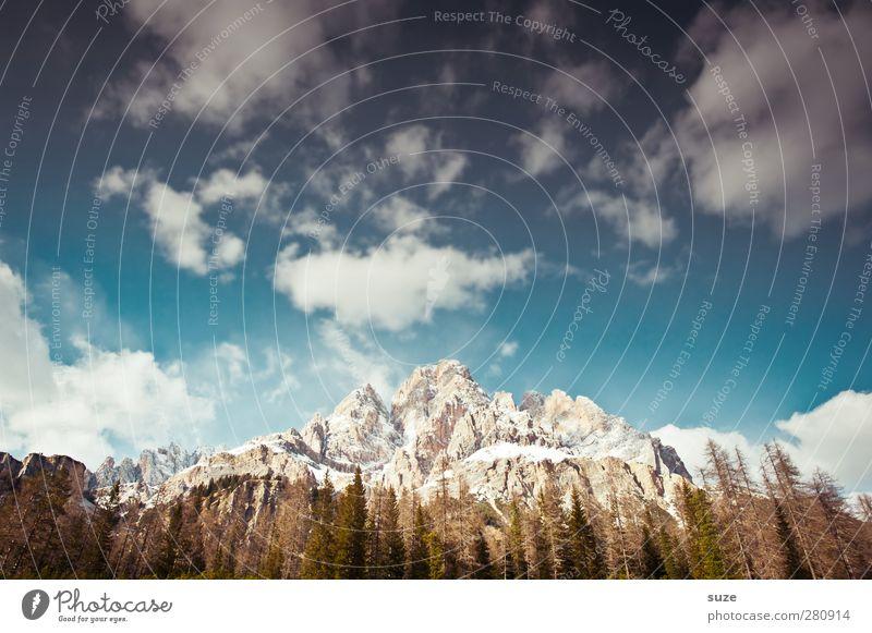 Umzingelt Ferien & Urlaub & Reisen Sommer Umwelt Natur Landschaft Himmel Wolken Klima Schönes Wetter Wald Alpen Berge u. Gebirge Gipfel Schneebedeckte Gipfel