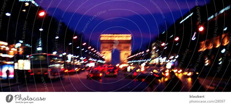 Champs Elysee Paris Europa Frankreich Diascan leicht bearbeitet