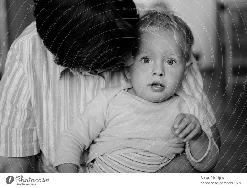 at close range Mensch Kind Erwachsene Gesicht Liebe feminin Gefühle Glück Kopf Familie & Verwandtschaft Zusammensein blond Kindheit authentisch Warmherzigkeit