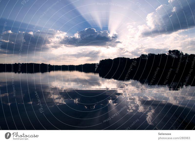 break through Ferien & Urlaub & Reisen Ferne Freiheit Sommerurlaub Sonne Umwelt Natur Landschaft Wasser Himmel Wolken Horizont Schönes Wetter Küste Seeufer nass