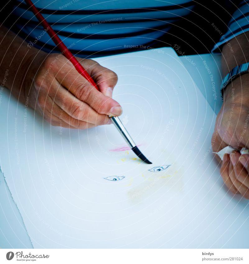 Portraitist Freizeit & Hobby Hand 1 Mensch 45-60 Jahre Erwachsene Kunst Künstler Maler zeichnen authentisch Originalität positiv Freude Inspiration Kreativität