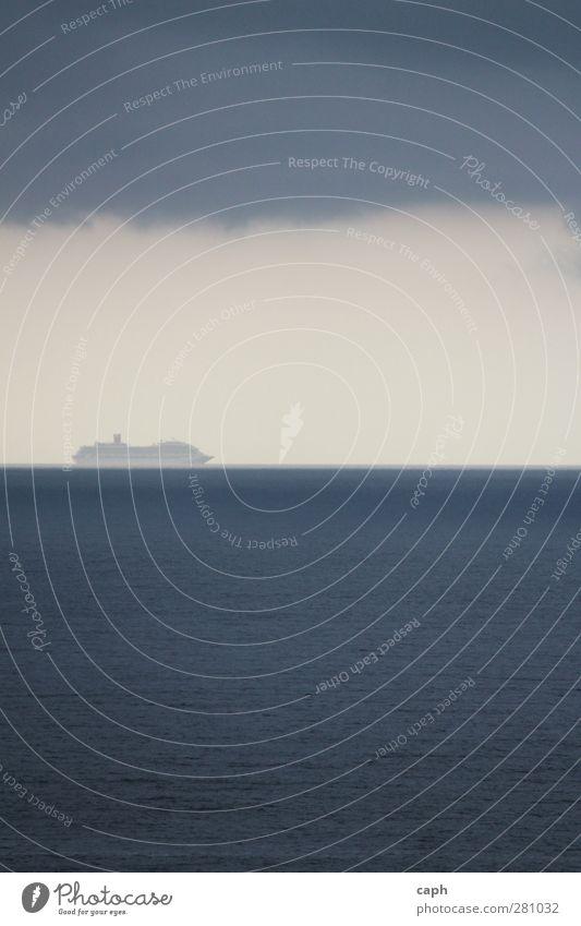 eines morgens.. Himmel blau Wasser Ferien & Urlaub & Reisen Sommer Meer Einsamkeit Wolken ruhig Erholung Ferne Küste Horizont Schwimmen & Baden elegant