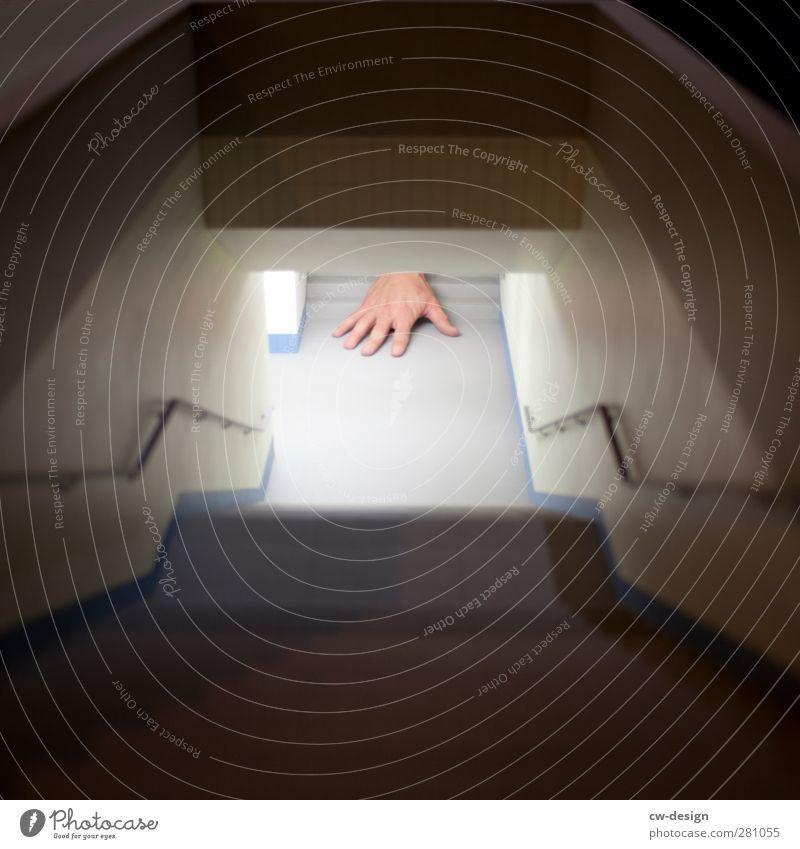 Trick 17 Mensch Jugendliche Stadt Hand Freude Erwachsene Wege & Pfade Architektur Junger Mann hell Kunst Linie 18-30 Jahre außergewöhnlich liegen Treppe
