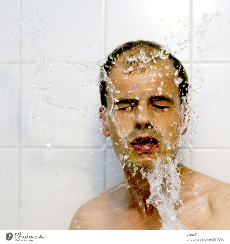 frisch Mensch Mann Jugendliche schön Erwachsene Gesicht kalt Erotik Haare & Frisuren Junger Mann Gesundheit Körper Haut maskulin authentisch